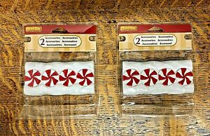 LEMAX #74206 Christmas Accessories - Candy Cane Lane - 2 pkgs. of 2 each