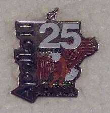 "NASA Apollo 11 25th Anniversary Pendant Charm ""The Eagle Has Landed""  1 1/4"""