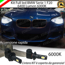 KIT LED H7 BMW SERIE 1 F20 6000K XENON NO AVARIA ANABBAGLIANTI 6400 LUMEN