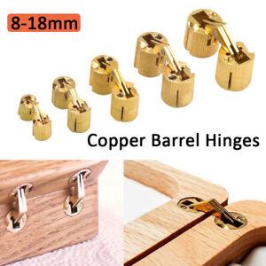 4Pcs/pack8mm Brass Cabinet Hidden Barrel Hinge Invisible Hinge Concealed Worktop