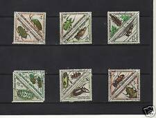 CENTRAL AFRICA 1962 SET/PART SET OF 12 CTO/NH BEETLES