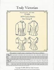 Schnittmuster Truly Victorian TV 420: 1885 Cuirass Bodice Gr. B