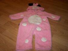 Size 12 Months Disney Minnie Mouse Pink Fleece Halloween Costume Jumpsuit EUC