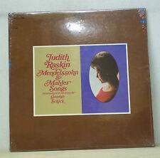 Judith Raskin MENDELSSOHN/MAHLER Songs - Epic BC 1305 SEALED