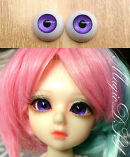 12mm Hand Made BJD Doll Eyes Pearlized Purple Acrylic Half Ball