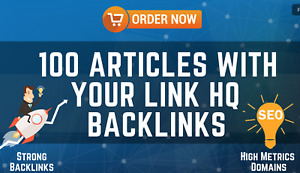 Added 100 Articles With Your Link HQ backlinks-SEO