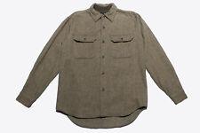 Vintage Agnes B Homme Paris Wool Shirt Herringbone M/L Made in Japan