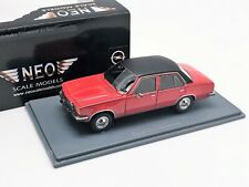 OPEL COMMODORE B 1973 RED BLACK ROOF NEO 43686 1/43 RESINE RESIN 4 DOORS ROUGE