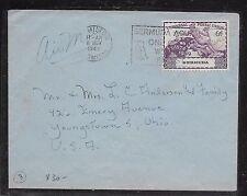 BERMUDA (P1201BB) 1949 UPU 6D SINGLE FRANK BIRD SLOGAN CANCEL TO USA