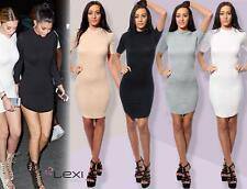 Thigh-Length Stretch, Bodycon Textured Dresses for Women