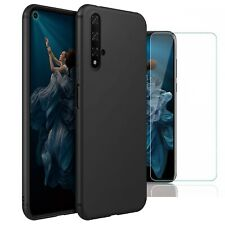 For Huawei nova 5T Case Slim Silicone Cover & Glass Screen Protector
