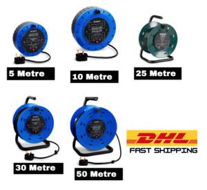 Extension Cable 5M/10M/25M/30M/50M 4 Gang Way Cassette Case Reel Lead Socket