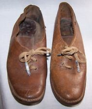 ANTIQUE LIGHT BROWN LEATHER BOY'S DRESS SHOES-LACE UP-EMBOSSED-FANCY-CHILD