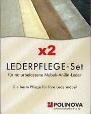 2x Longlife Lederpflege Pflegeset by Polinova für Nubuk/Anilin. 4x100 ml NEU,OVP