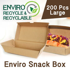 Cardboard Food Boxes Large Snack 200Pc Kraft Takeaway Disposable Eco Frendly