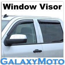 14-16 GMC Sierra 1500 Crew Cab Window Visor Smoke Shade Vent Wind Deflectors