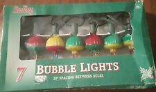 Vintage Sterling Bubble Lights Christmas Tree Electric Working Saucer W/ Box