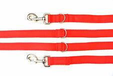 11ft Police Style Dog Training/Obedience Lead,Leash 25mm Cushion Webbing In Red