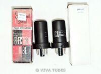 NIB NOS Date Matched Pair Radiotron RCA USA 6SF5 Metal Vacuum Tubes 100%