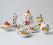 service à café années 60 70's vintage design 1970 en porcelaine, deco retro