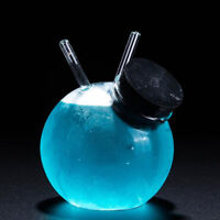 285ml 360ml Ball Shape Cocktail Glass Straw Cup Juice Glasses Wine Cup for Bar