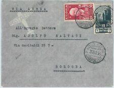 72020 - ERITREA / ETIOPIA  - Storia Postale: AFFRANCATURA MISTA su BUSTA 1936