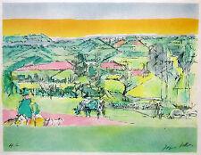 """JACQUES VILLON Signed 1960 Original Cubist Color Lithograph - """"Pastorale"""""""