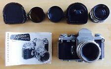 Steinheil Munchen Quinon 55mm f/1.9 Lens - Edixa Flex Reflex 35mm Film Camera