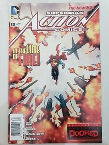 SUPERMAN ACTION COMICS #30 (2014) DC 52 COMICS DOOMED PRELUDE! HTF NEWSSTAND
