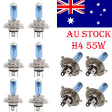10X H4 Xenon Car Headlight Globes Halogen Bulbs 6000K 55W 12V Super White Lights