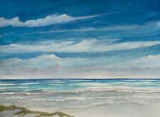 11 x 14 ORIGINAL ACRYLIC/WATERCOLOR ART PAINTING SEASCAPE BEACH OCEAN COASTAL