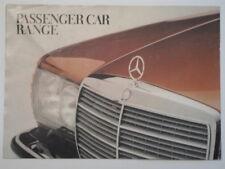 MERCEDES BENZ RANGE orig 1979 UK Mkt Brochure  600 450 SL SLC 5.0 280 350 SE 6.9