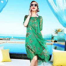 Autumn Full-Length Machine Washable Dresses for Women
