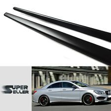 Matte Black Mercedes Benz CLA CLA250 Sport W117 Side Skirts Cover Body kit 2018