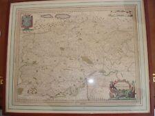 CARTE HONDIUS - COMITATUS BURGUNDIA CIRCA 1630 - 1650