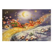 Christmas 46cm x 30cm LED Light up Canvas Picture - Santa Sleigh UKC115