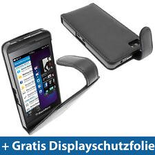 Schwarz Leder Tasche für Hülle Halter für BlackBerry Z10 Smartphone