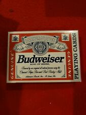 Budweiser Lager Beer Playing Cards New in Sealed Package