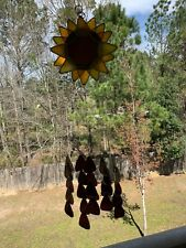 Handmade Stained Glass Sunflower Windchime