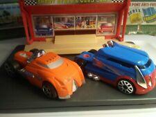 Hotwheels semi truckin cab's lot of 2 orange & blue for transport 1:24