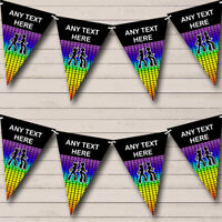 60's 70's 80's Disco Dance Retro Personalised Birthday Bunting Party Banner