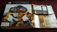 Vintage Patriot PC Game 3 disks. 1992 Three Sixty Gulf War Complete Big Box PC