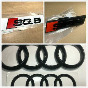 Genuine Style Gloss Black SQ5 Front Rear Emblem Badge Full set for Audi Q5 SQ5