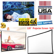 """120"""" 16:9 HD 3D 4K Movie Portable Projector Screen Outdoor Home Theater Cinema"""