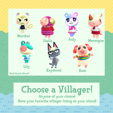 animal crossing ACNH choose your village RARE (raymond, judy, and many more)