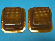 Mazda RX4 929 Coupe Rear Tail light Amber Turn Signal Lenses Pair Genuine NOS