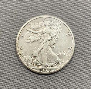 1934-S Walking Liberty Half Dollar 50c - Nice Details - XF+