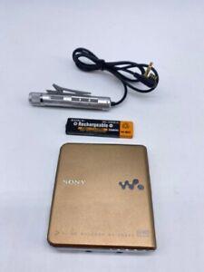Sony MD Walkman MiniDisc Player MZ-EH930 Gold Vintage from Japan(J)