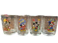McDonalds Walt Disney World Year 2000 Celebration Glasses Set of 4  Mickey Mouse