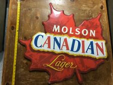 Molson Canadian Lager - Metal Beer Advertising Sign
